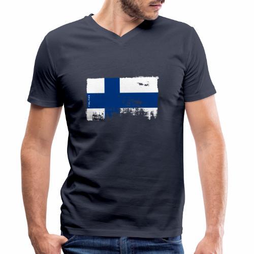Suomen lippu, Finnish flag T-shirts 151 Products - Stanley & Stellan miesten luomupikeepaita