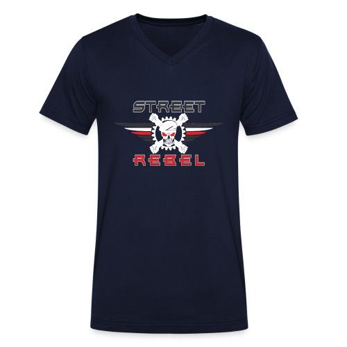 Street Rebel - Männer Bio-T-Shirt mit V-Ausschnitt von Stanley & Stella
