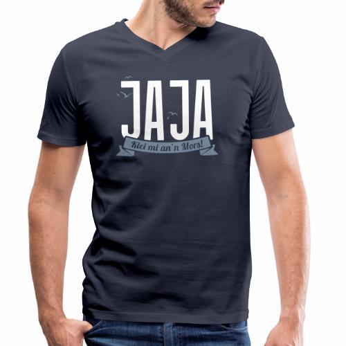 Ja Ja - Klei mi an'n Mors - Männer Bio-T-Shirt mit V-Ausschnitt von Stanley & Stella