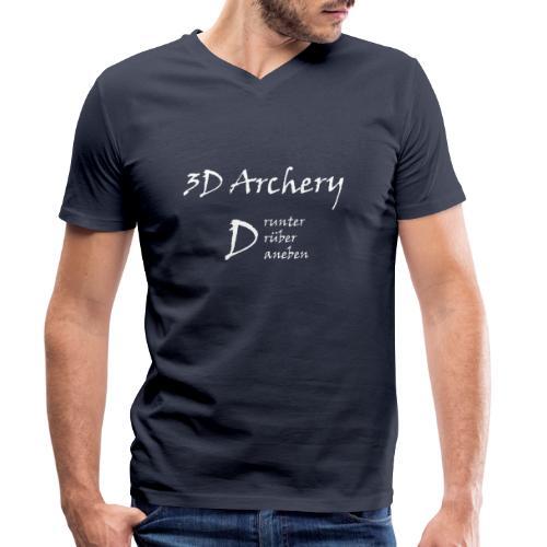 3D Archery white - Männer Bio-T-Shirt mit V-Ausschnitt von Stanley & Stella