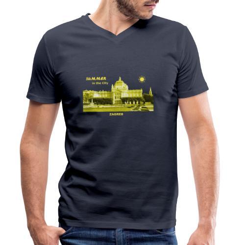Sommer Zagreb Kroatien Istrien Nationaltheater - Männer Bio-T-Shirt mit V-Ausschnitt von Stanley & Stella