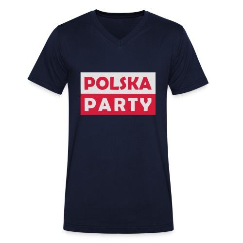 Polska Party / Die Party-Geschenkidee - Männer Bio-T-Shirt mit V-Ausschnitt von Stanley & Stella