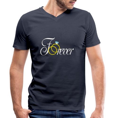 Forever Ringe. Für Immer - Männer Bio-T-Shirt mit V-Ausschnitt von Stanley & Stella