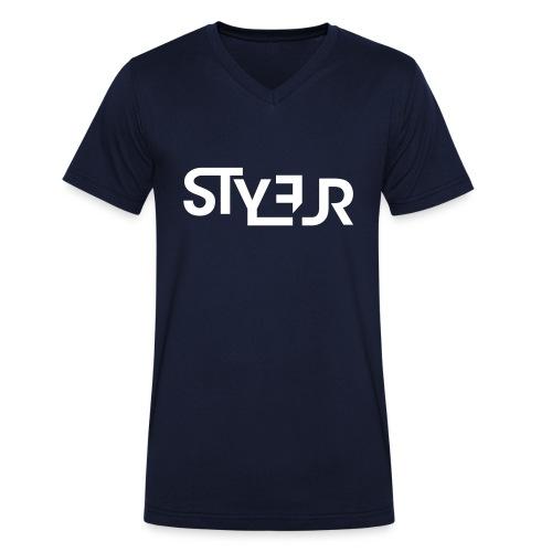 styleur logo spreadhsirt - Männer Bio-T-Shirt mit V-Ausschnitt von Stanley & Stella