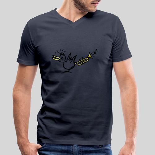 trompetenvogel - Männer Bio-T-Shirt mit V-Ausschnitt von Stanley & Stella
