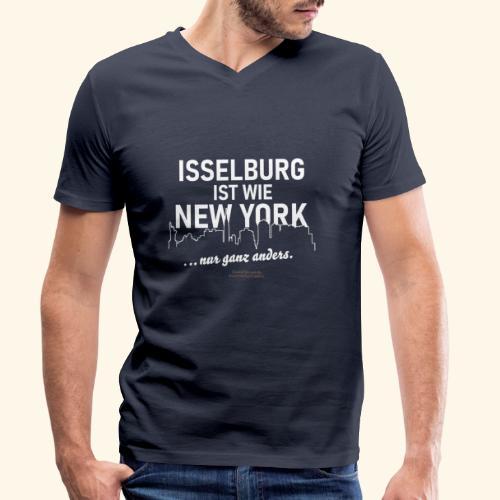 Isselburg 👍 ist wie New York 😁 - Männer Bio-T-Shirt mit V-Ausschnitt von Stanley & Stella
