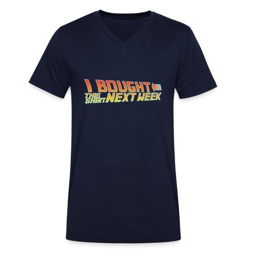 Back to Shirt - Männer Bio-T-Shirt mit V-Ausschnitt von Stanley & Stella
