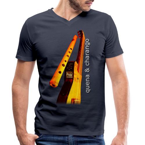 Quena y Charango II - Camiseta ecológica hombre con cuello de pico de Stanley & Stella
