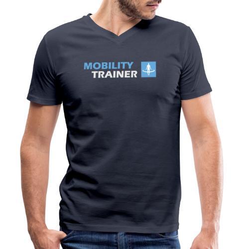 Kleding Mobility Trainer - Mannen bio T-shirt met V-hals van Stanley & Stella