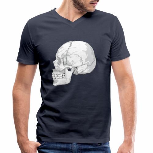Schädel - Männer Bio-T-Shirt mit V-Ausschnitt von Stanley & Stella