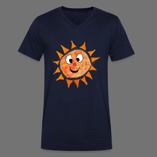 Słońce - Ekologiczna koszulka męska z dekoltem w serek Stanley & Stella