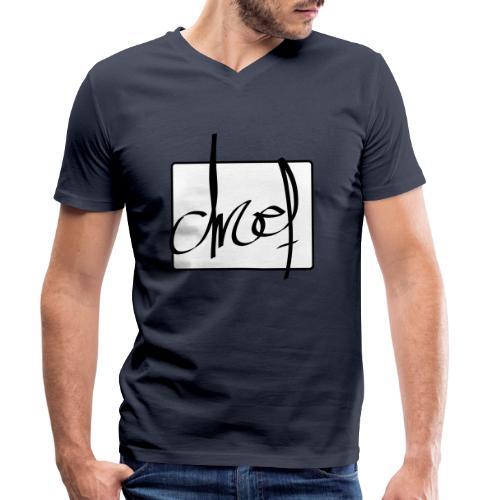 Droef.Gent logo zwart - Mannen bio T-shirt met V-hals van Stanley & Stella