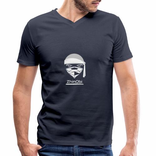 ZhinObi V2 White - Men's Organic V-Neck T-Shirt by Stanley & Stella