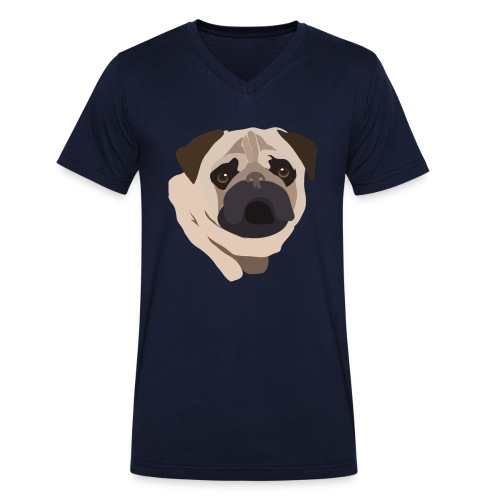 Pug Life - Men's Organic V-Neck T-Shirt by Stanley & Stella