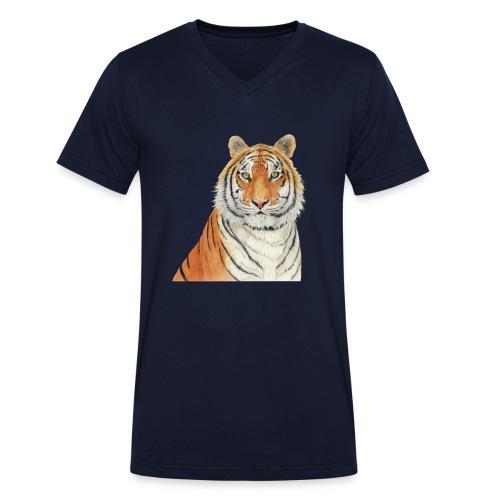 Tigre,Tiger,Wildlife,Natura,Felino - T-shirt ecologica da uomo con scollo a V di Stanley & Stella
