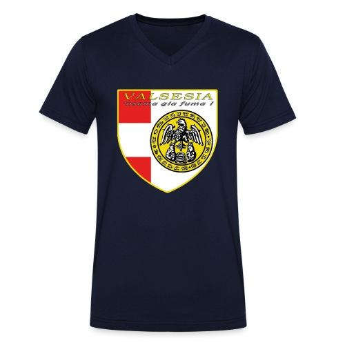 scudo simbolo comunità Valsesiana - T-shirt ecologica da uomo con scollo a V di Stanley & Stella