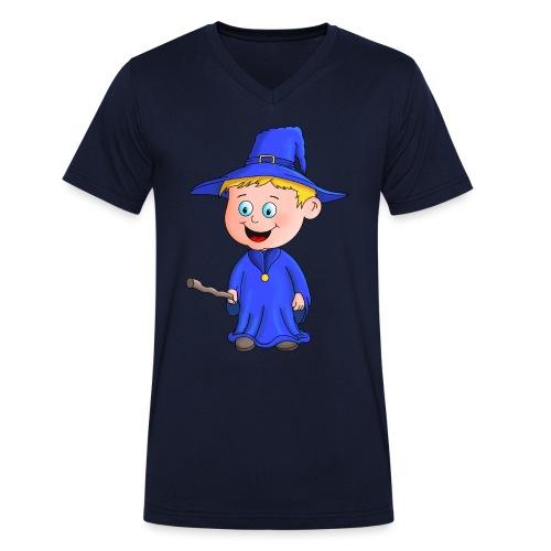 Kleiner Zauberer liebt die Zauberei - Männer Bio-T-Shirt mit V-Ausschnitt von Stanley & Stella