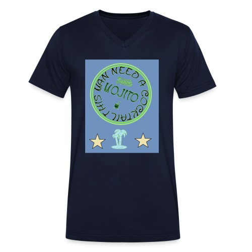 Summer t-shirt - Men's Organic V-Neck T-Shirt by Stanley & Stella