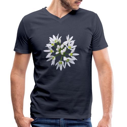 TIAN GREEN Garten - Bärlauch 2020 01 - Männer Bio-T-Shirt mit V-Ausschnitt von Stanley & Stella