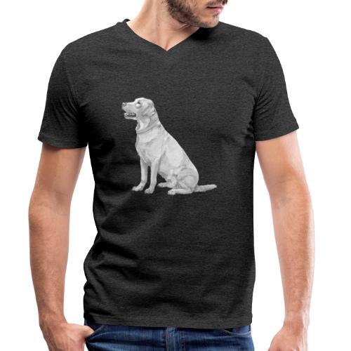 labrador Retriever Yellow - Ink - Økologisk Stanley & Stella T-shirt med V-udskæring til herrer