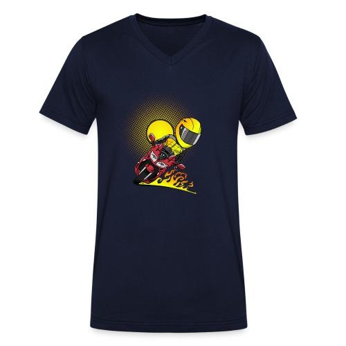 0791 fjr ROOD sun - Mannen bio T-shirt met V-hals van Stanley & Stella