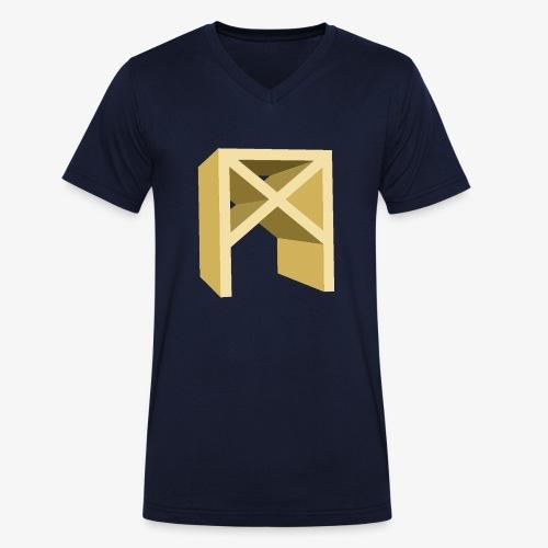 Rune Mannaz - Männer Bio-T-Shirt mit V-Ausschnitt von Stanley & Stella