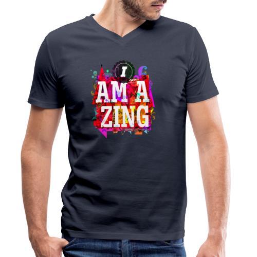 I am Amazing - Men's Organic V-Neck T-Shirt by Stanley & Stella