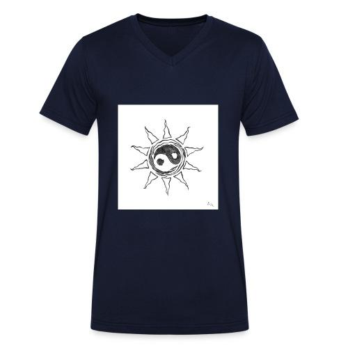 sole yin yang - T-shirt ecologica da uomo con scollo a V di Stanley & Stella