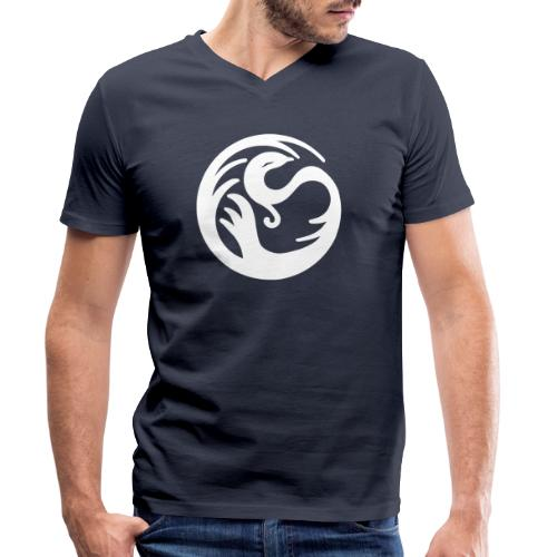 Fabelwesen weiss - Männer Bio-T-Shirt mit V-Ausschnitt von Stanley & Stella