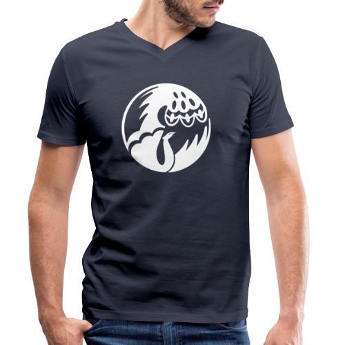 Pfau weiss - Männer Bio-T-Shirt mit V-Ausschnitt von Stanley & Stella