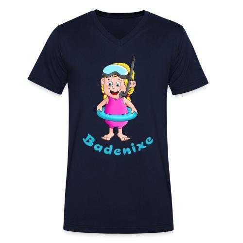 Badenixe - Schwimmerin - Männer Bio-T-Shirt mit V-Ausschnitt von Stanley & Stella