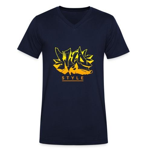 Wild Style Graffiti Design - Økologisk Stanley & Stella T-shirt med V-udskæring til herrer