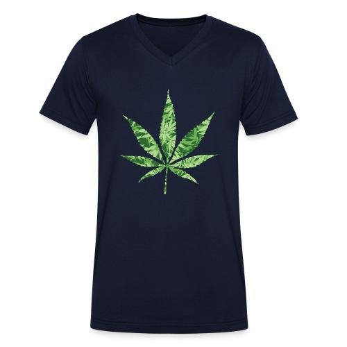 Weed Leaf - Mannen bio T-shirt met V-hals van Stanley & Stella