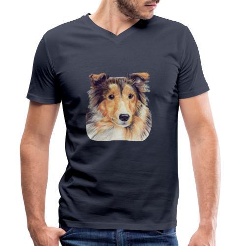 shetland Sheepdog 2 - Økologisk Stanley & Stella T-shirt med V-udskæring til herrer