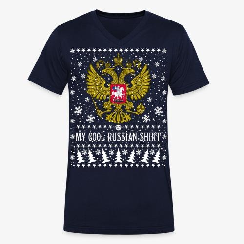 116 My Cool Russian Shirt Russland T-Shirt Snow - Männer Bio-T-Shirt mit V-Ausschnitt von Stanley & Stella