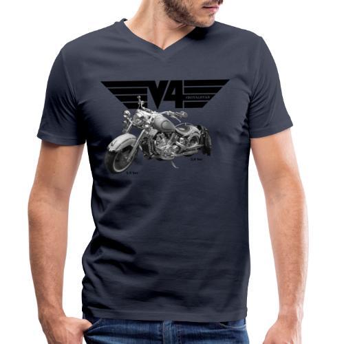 V4 Motorcycles black Wings - Männer Bio-T-Shirt mit V-Ausschnitt von Stanley & Stella
