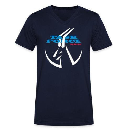 TaskForce Logo - Männer Bio-T-Shirt mit V-Ausschnitt von Stanley & Stella