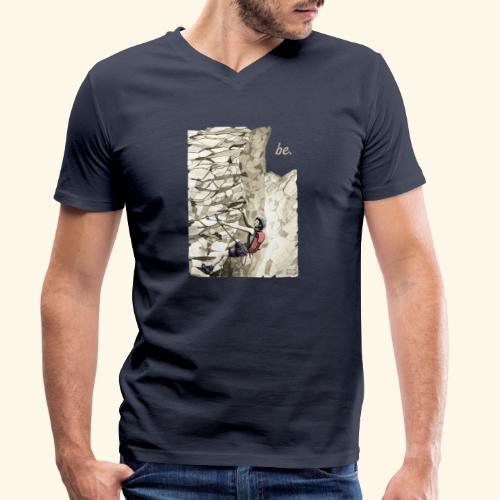 Im Klettersteig - be. - Resonanz - Männer Bio-T-Shirt mit V-Ausschnitt von Stanley & Stella