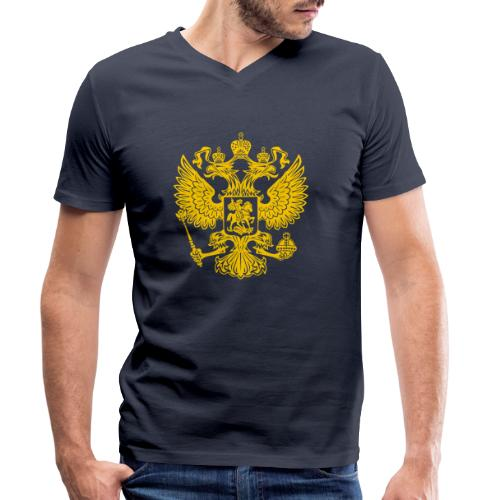 Russia Adler GOLD - Männer Bio-T-Shirt mit V-Ausschnitt von Stanley & Stella