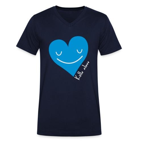 Kölle alove - Männer Bio-T-Shirt mit V-Ausschnitt von Stanley & Stella