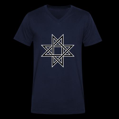 Octagram - Männer Bio-T-Shirt mit V-Ausschnitt von Stanley & Stella