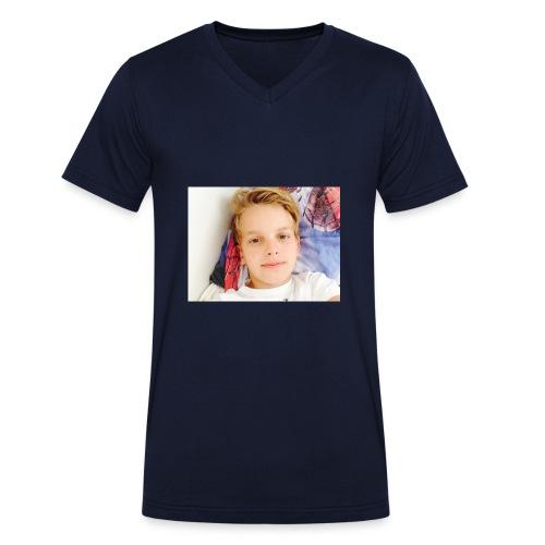 first design - Økologisk Stanley & Stella T-shirt med V-udskæring til herrer
