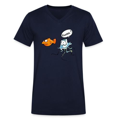 Kuscheln? - Männer Bio-T-Shirt mit V-Ausschnitt von Stanley & Stella