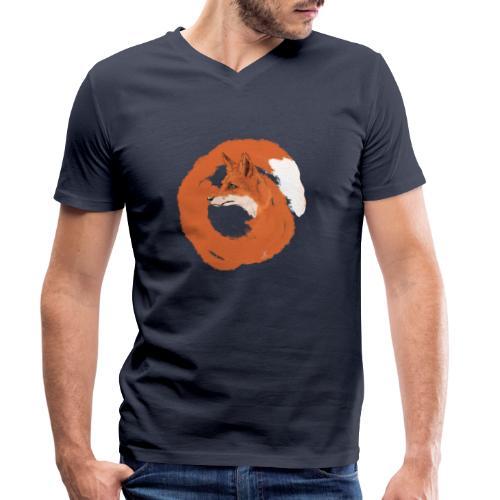 Fox - Männer Bio-T-Shirt mit V-Ausschnitt von Stanley & Stella