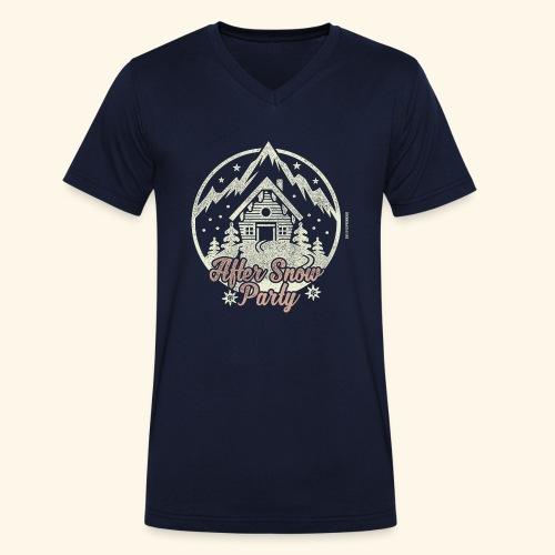 Apres Ski Party T Shirt After Snow Party - Männer Bio-T-Shirt mit V-Ausschnitt von Stanley & Stella