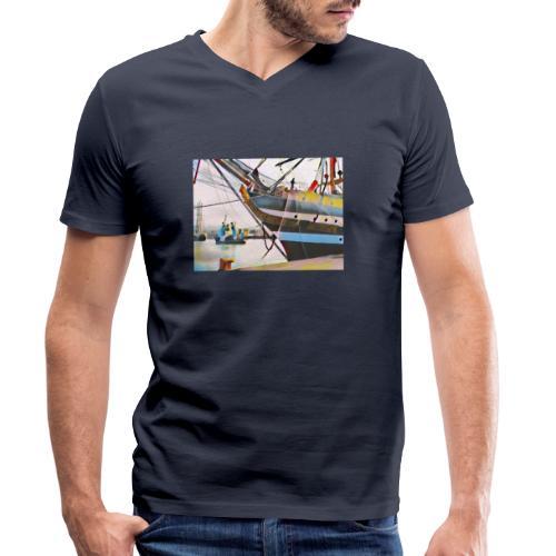 Schiff Nr. 2 - Männer Bio-T-Shirt mit V-Ausschnitt von Stanley & Stella