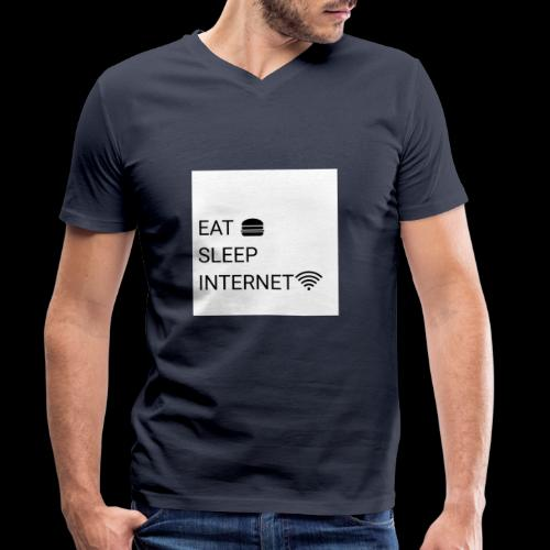 EAT SLEEP INTERNET - Men's Organic V-Neck T-Shirt by Stanley & Stella