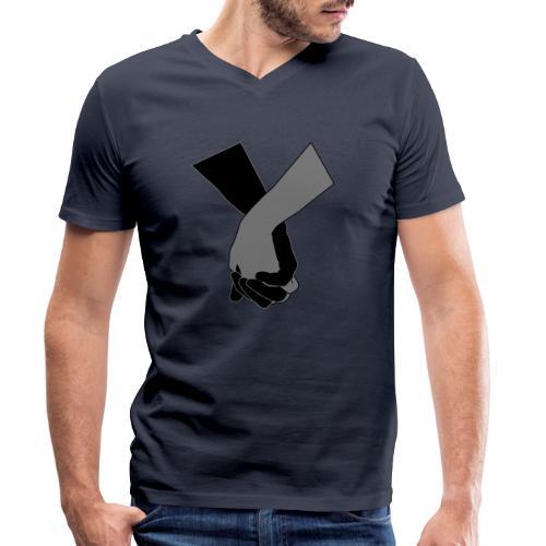 Holding Hands - Männer Bio-T-Shirt mit V-Ausschnitt von Stanley & Stella