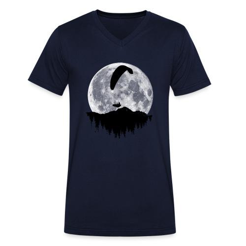 Paralgeiter im Vollmond - Männer Bio-T-Shirt mit V-Ausschnitt von Stanley & Stella