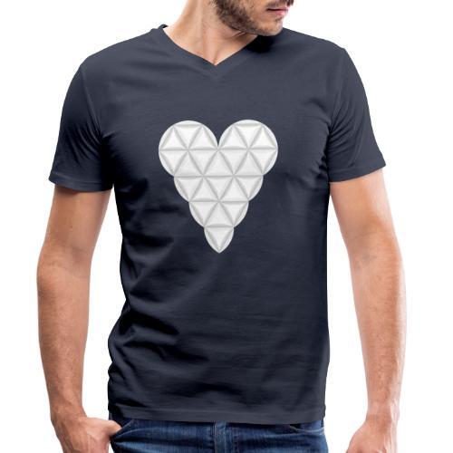 nThe Heart of Life x 1, New Design /Atlantis - 02. - Men's Organic V-Neck T-Shirt by Stanley & Stella